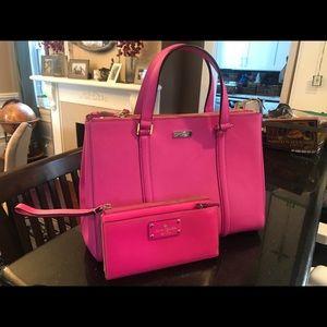 Kate Spade handbag with shoulder strap and wallet